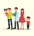 family dentist or doctor vector image