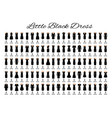 fashion little black dresses set of one hundred vector image vector image