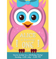 first birthday party invitation card vector image