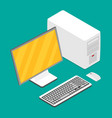 flat isometric computer vector image vector image