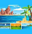 four different scene nature park and forest vector image vector image