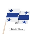 Gambier Islands Ribbon Waving Flag Isolated on vector image vector image