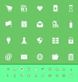 General folder color icons on green background vector image vector image