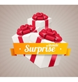 Gift box present card vector image