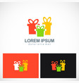 gift colored logo vector image vector image