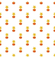Gold cup star pattern cartoon style vector image vector image