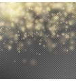 Gold glitter particles effect EPS 10 vector image