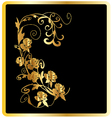 Gold roses card vector image vector image