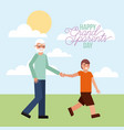 grandparenst day card vector image