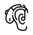 hearing aid icon outline vector image vector image
