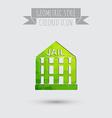 icon prison symbol of justice police icon vector image vector image