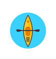 kayak top view icon flat style vector image
