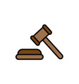 law hammer flat icon sign symbol vector image
