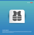 life jacket - blue sticker button vector image