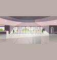 modern reception area empty no people lobby vector image