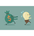 Money chasing ideas vector image