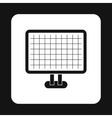 Monitor with image on screen icon simple style vector image vector image