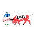 new year 2021 - colorful flat design style vector image