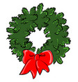 new year wreath on white background vector image