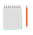 notebook with a red pencil vector image