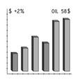 oil price chartoil single icon in monochrome vector image