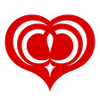 one star heart icon simple style vector image vector image