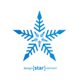 Original snowflake on white background vector image vector image