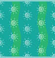 pattern drawing sun on blue and green striped vector image vector image