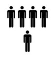 people icon - group of men team symbol for vector image vector image