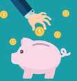 piggy bank concept in flat style - money savings vector image vector image