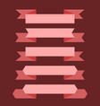 pink banner ribbon set vector image