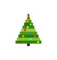 pixel christmas tree vector image vector image
