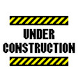 pixel under construction text detailed isolated vector image vector image