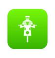 Scarecrow icon digital green