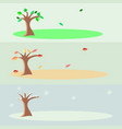 seasons - spring autumn and winter vector image vector image