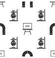 set magnet chalkboard and glass test tube flask vector image vector image