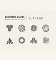 set of universal minimal geometric vector image vector image