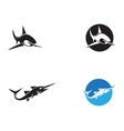 shark fish animals logo and symbols vector image vector image