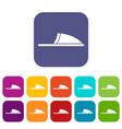 slippers icons set vector image vector image