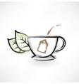 Tea cup grunge icon