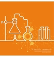 The concept of chemical science research vector image vector image