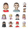 the human race cartoon icons in set collection for vector image