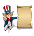 Uncle Sam I Want You Declaration vector image vector image