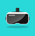 virtual reality headset in flat style vector image vector image