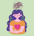 world mental health day woman suffering from vector image vector image