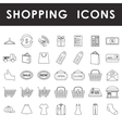 Shopping outline icons set vector image