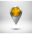 Technology Map Pointer with Gold Metal Texture vector image