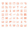 49 data icons vector image vector image