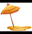 A beach umbrella vector image