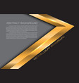 abstract gold arrow black modern luxury background vector image